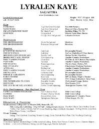 Acting Resume Special Skills Examples by Sample Acting Resume Special Skills Child Acting Resume Sample