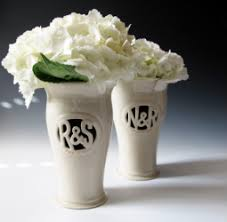 Personalized Flower Vases Wedding Vases Maid Of Clay Handmade Pottery