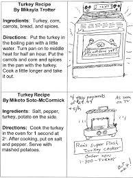 thanksgiving second grade first grade turkey recipes shoreline christian