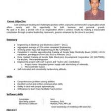 fresher engineer resume resume for your job application