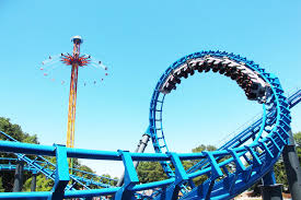 Batman Ride Six Flags Over Georgia Smoother And Sleeker 122 Foot Blue Hawk Roller Coaster Debuts At