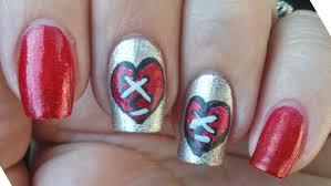 broken heart nail art tutorial youtube