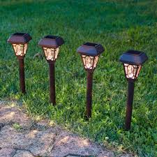 solar garden light stakes home outdoor decoration