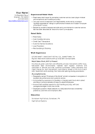 Sample Resume Curriculum Vitae by Best Restaurant Resume Objective Examples For Retail Sales
