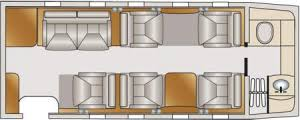 Private Jet Floor Plans Private Midsized Jet Lear Jet 60