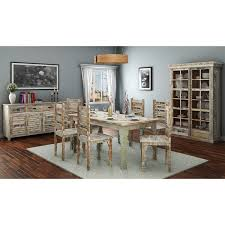 9pc dining room set rainbow rustic reclaimed wood 9pc dining room set