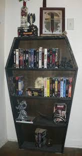 coffin bookshelf coffin shaped bookcase