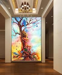 restaurant entrance hallway painting canvas wallpaper ktv wall art
