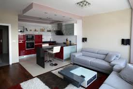 interior small apartment interior design by black wooden glass