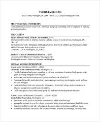 social work resume template 28 images cover letter for social