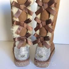 swarovski uggs custom hand jeweled bailey bow tall ugg boots