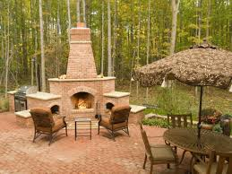 Paver Ideas For Patio by Exterior Design Chiminea Outdoor Bricks Fireplace With Chairs And