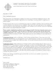 how to write a catholic confirmation letter sample cover letter
