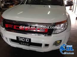 front grill ford ranger 12 13 14 ranger t6 car chrome front grille for ford ranger raptor
