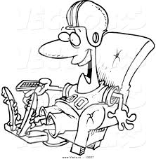 vector of a cartoon football fan watching tv in an arm chair