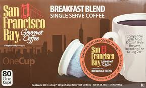 Types Of Coffee Mugs Amazon Com San Francisco Bay Onecup Breakfast Blend 80 Count