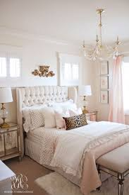 pink and gold bedroom set wood floor mild purple pillows bedroom pink clothed pillows rectangle glass tables walnut cupboard pink satin sheet white clothed shams white