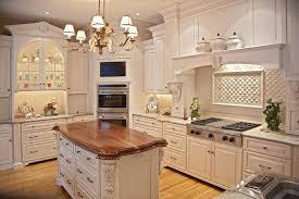 Stylish Kitchen Cabinets Stylish Kitchen Designed With Granite Backsplash And Counterops