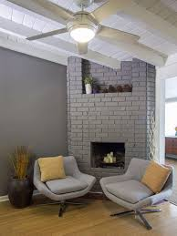 Modern Livingrooms by 15 Gorgeous Painted Brick Fireplaces Hgtv U0027s Decorating U0026 Design