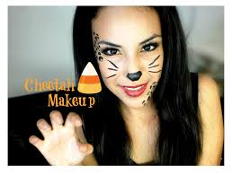 easy face makeup for halloween cheetah halloween makeup tutorial youtube