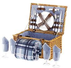 picnic basket for 4 blue 4 person wicker picnic basket ohioest