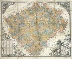 bohemia map map of bohemia 1756 maps cartography mappe mapa マップ