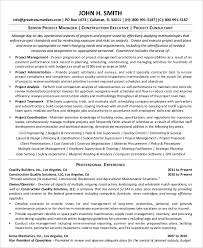 Example Of Project Manager Resume by Project Management Resume Example 10 Free Word Pdf Documents