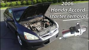 where is the starter on a 2006 honda civic 2006 honda accord starter removal