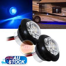 flush mount trailer lights 2xblue 12v led flush mount car truck trailer mini marker light