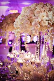 Wedding Centerpieces With Crystals by Outdoor Ceremony U0026 Purple And White Ballroom Reception Inside