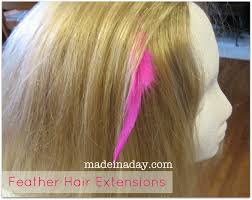 feather hair diy feather extensions