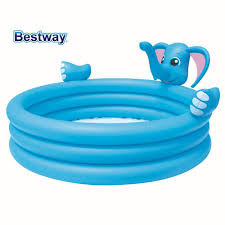 compare prices on bath water spray online shopping buy low price bestway 53048 elephant three ring water spray inflatable pool baby bath swimming pool elephant 3