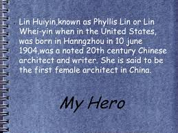 Architect In Chinese My Hero Lin Huiyin Known As Phyllis Lin Or Lin Whei Yin When In