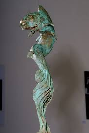 bronze fresh water fish sculpture statue statuettes sculpture by