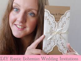 Wedding Invitation Card Diy Diy Rustic Bohemian Wedding Invitations Youtube