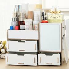 hipsteen diy wooden desk makeup cosmetic box drawers jewelry