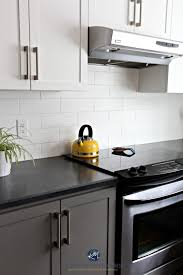two tone kitchen cabinets with black countertops painting kitchen cabinets how to the best paint colour