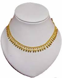 1 gram gold necklace from parakkat jewellers pkj p2 gold layered