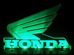 honda wings motocycles logo led lamp night light man cave room