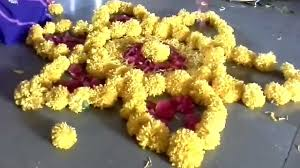 Real Rose Petals Beautiful Real Flowers Rangoli Design Real Flower Petals Rangoli