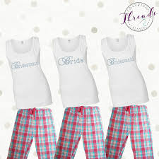 bridesmaid pajama sets personalised pyjamas pajamas bridesmaid pjs bridal