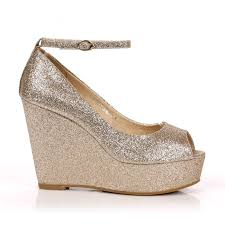 gold wedge shoes for wedding wedding shoe ideas excellent gold wedge shoes for wedding high