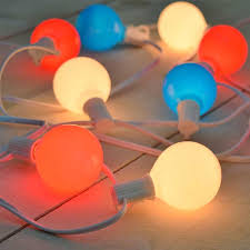 patriotic red white u0026 blue g50 globe lights 10 feet