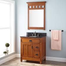 Mirror Vanity Bathroom 30 American Craftsman Vanity For Undermount Sink Rustic Oak