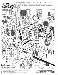coloring pages of kitchen things printable fire safety coloring pages spectacular kitchen for kids