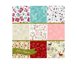 retro wrapping paper retro christmas patterns buy vector pack of vintage soft