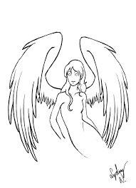 quick angel drawing by selladorra on deviantart