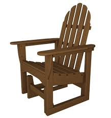 furniture amish cedar adirondack glider chair for exciting patio