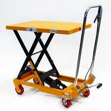 Hydraulic Scissor Lift Table by Jorestech Hydraulic Scissor Lift Table Push Truck Cart 330 Lbs