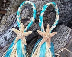 starfish decorations aisle decorations pew bows starfish and raffia